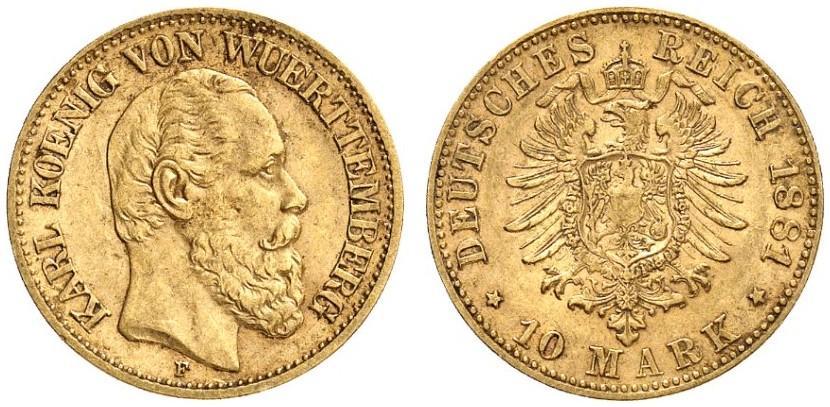 DE 10 Mark 1881 F
