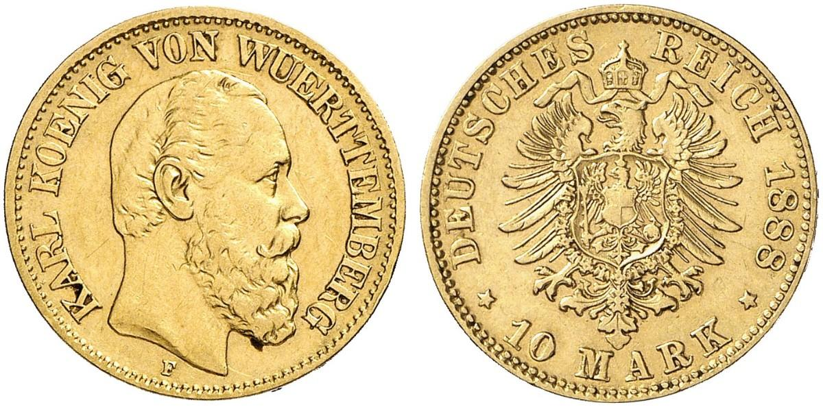 DE 10 Mark 1888 F