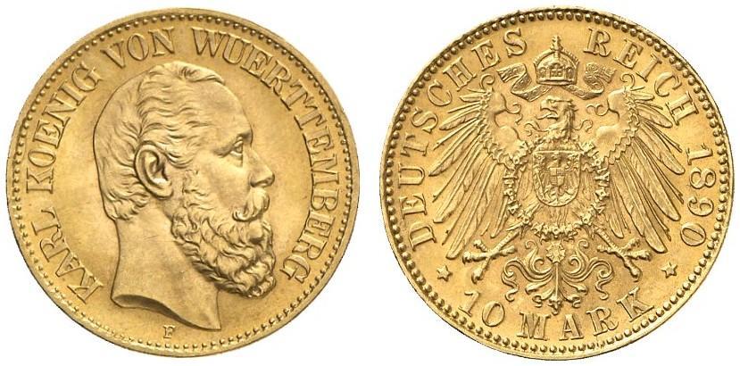 DE 10 Mark 1890 F
