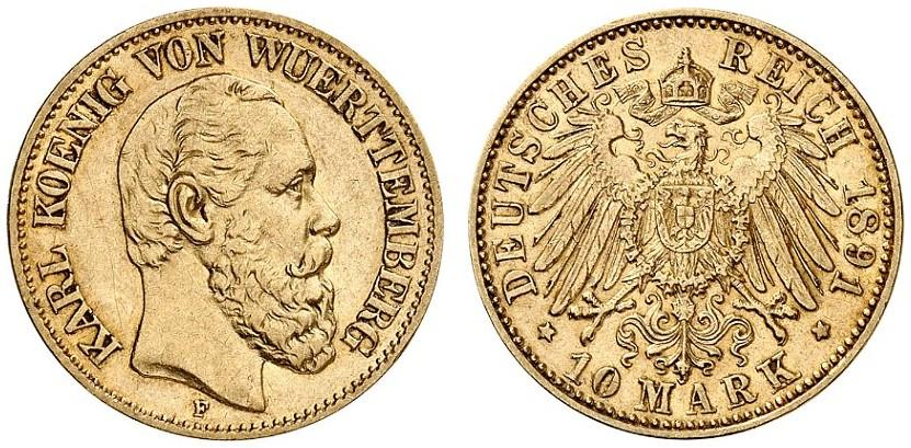 DE 10 Mark 1891 F