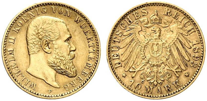 DE 10 Mark 1893 F