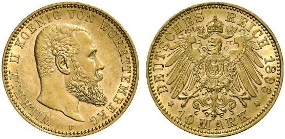 DE 10 Mark 1896 F