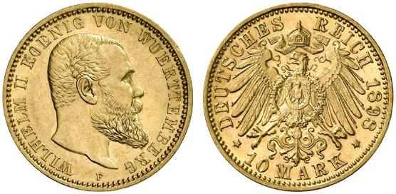 DE 10 Mark 1898 F