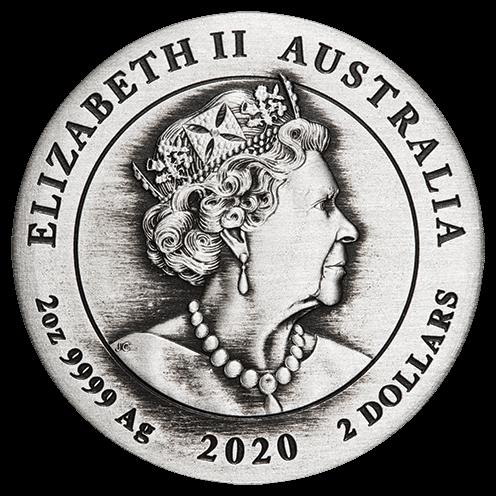 AU 2 Dollars 2020 P