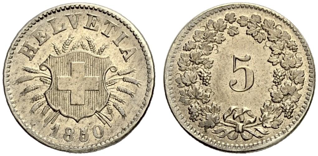 CH 5 Rappen 1850