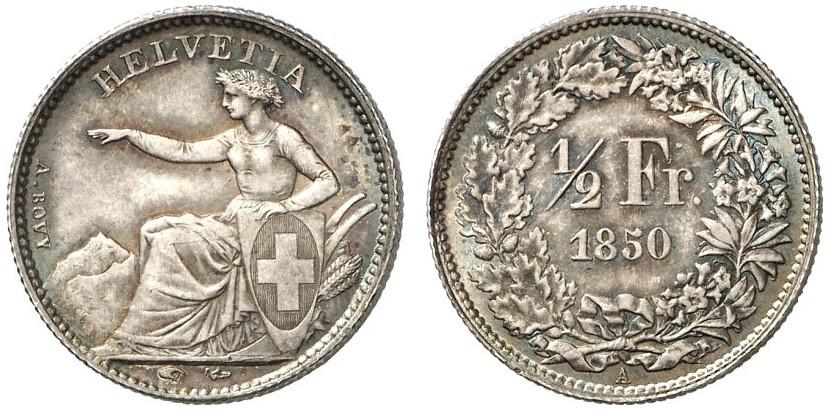 CH 1/2 Franken 1850 A