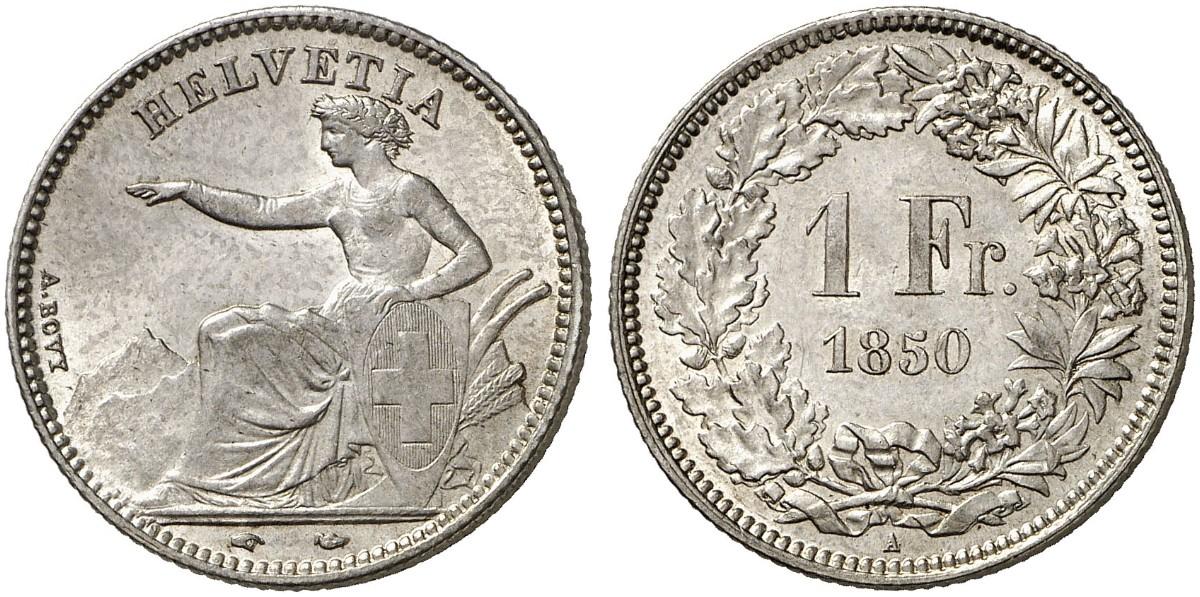 CH 1 Franken 1850 A