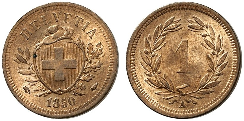 CH 1 Rappen 1850 A