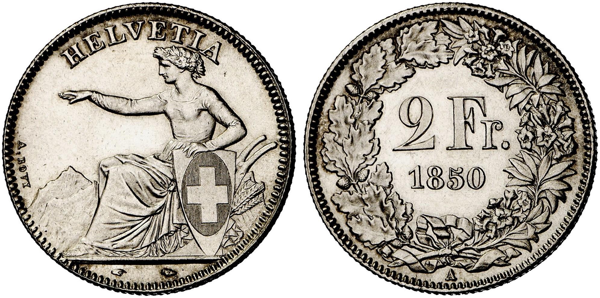 CH 2 Franken 1850 A