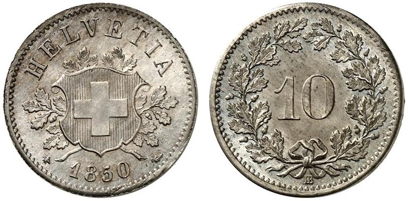 CH 10 Rappen 1850 BB