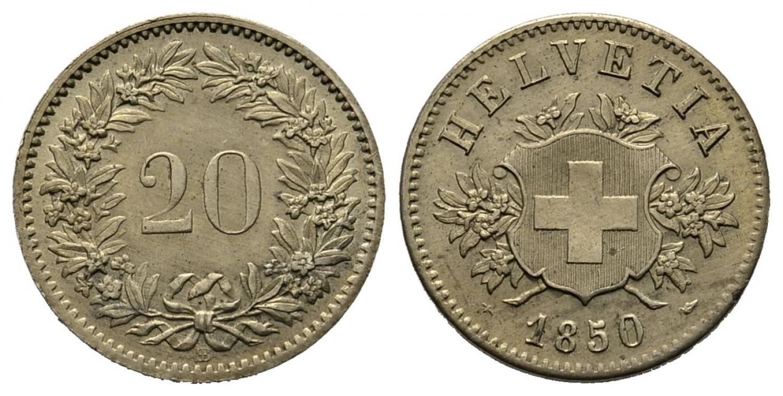 CH 20 Rappen 1850 BB