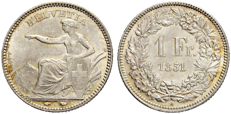 CH 1 Franken 1851 A