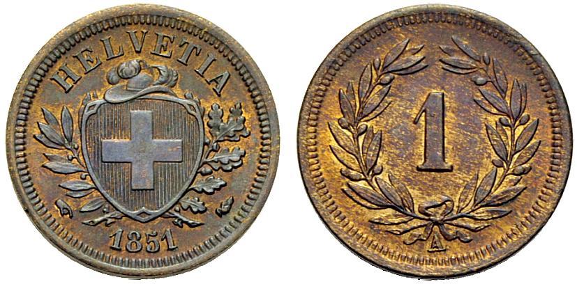 CH 1 Rappen 1851 A