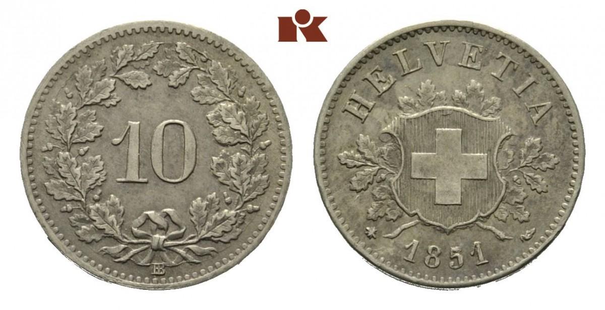 CH 10 Rappen 1851 BB