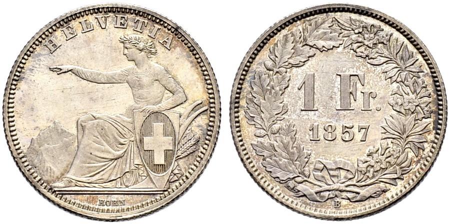 CH 1 Franken 1857 B