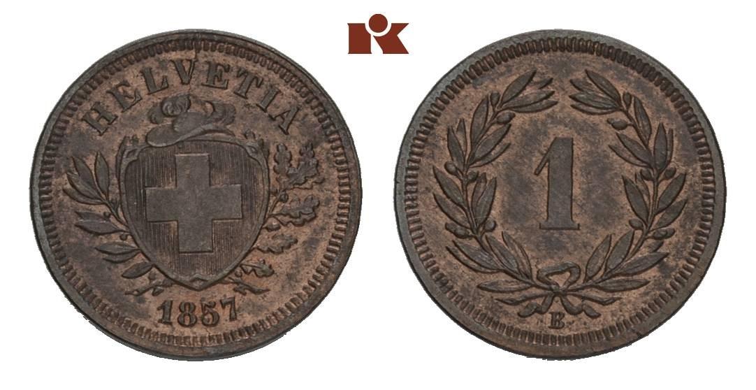 CH 1 Rappen 1857 B