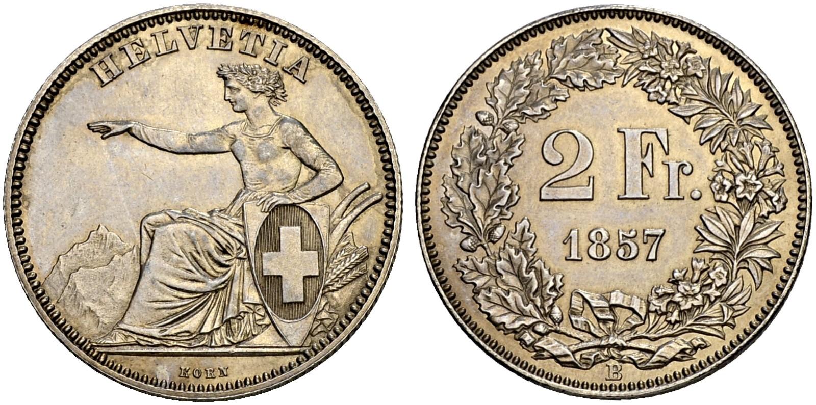 CH 2 Franken 1857 B