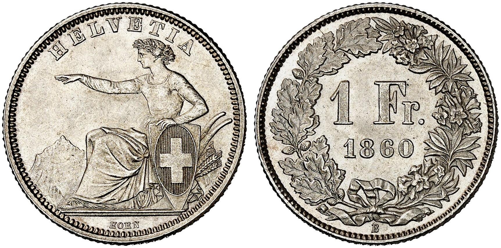 CH 1 Franken 1860 B