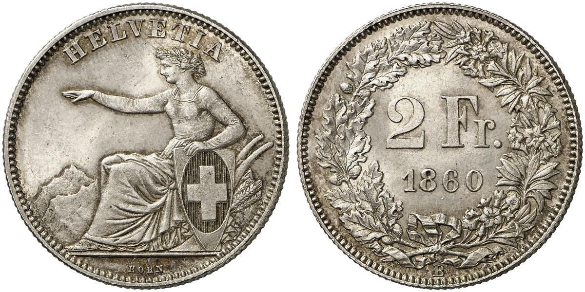 CH 2 Franken 1860 B