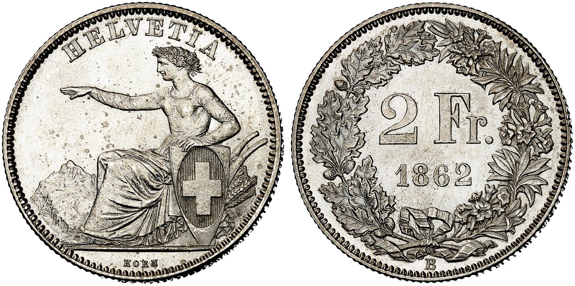 CH 2 Franken 1862 B