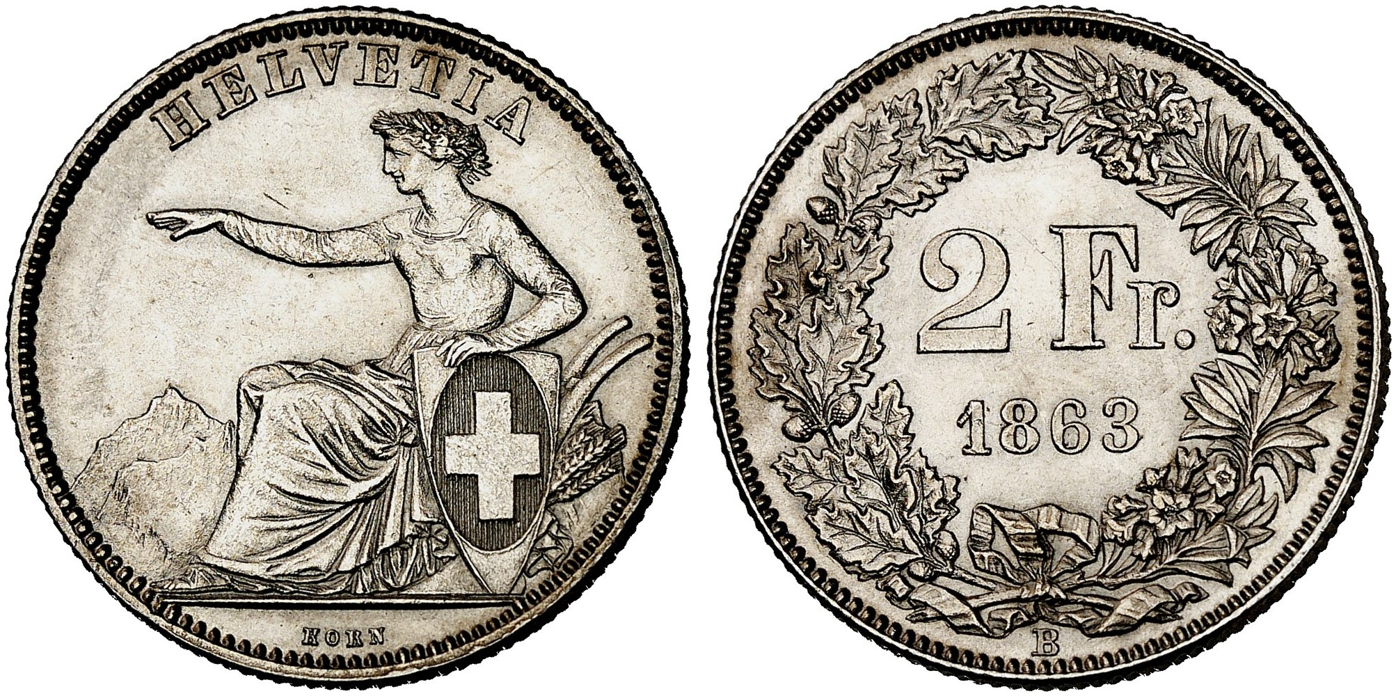 CH 2 Franken 1863 B