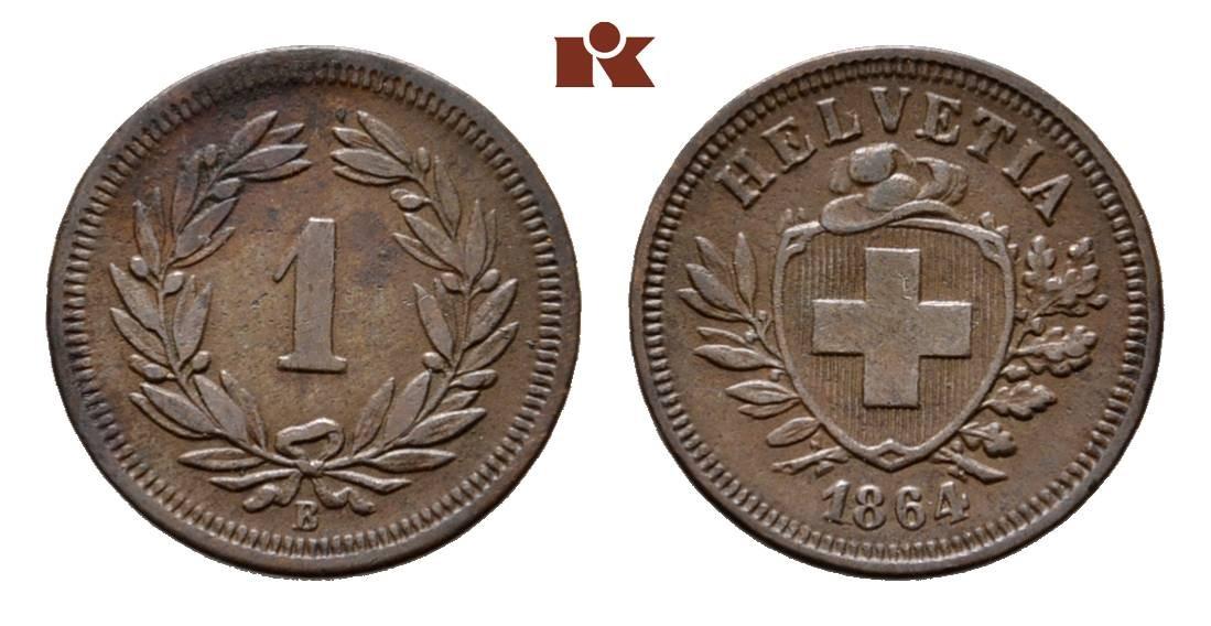 CH 1 Rappen 1864 B