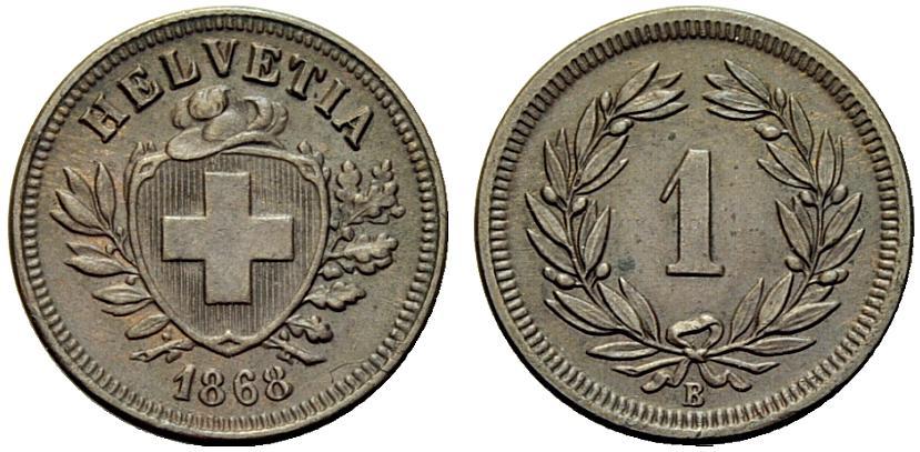 CH 1 Rappen 1868 B