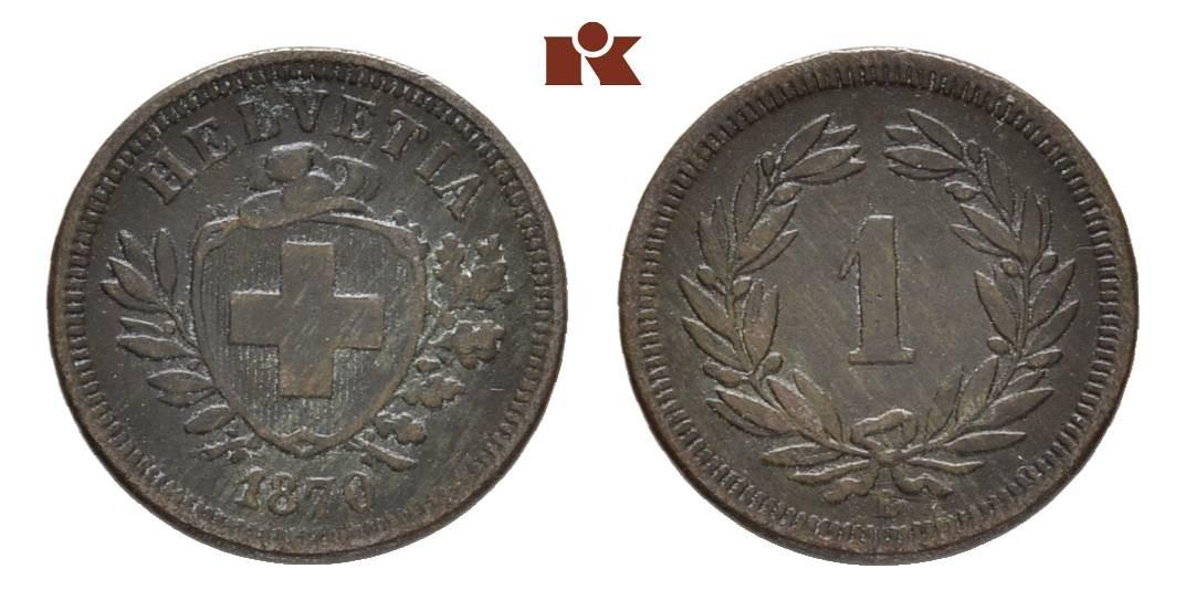 CH 1 Rappen 1870 B
