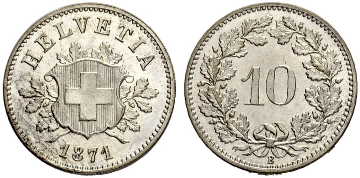 CH 10 Rappen 1871 B