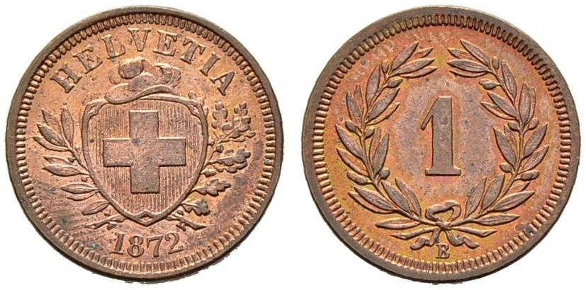 CH 1 Rappen 1872 B