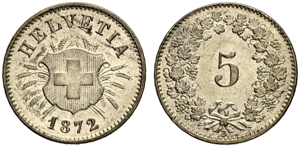 CH 5 Rappen 1872 B