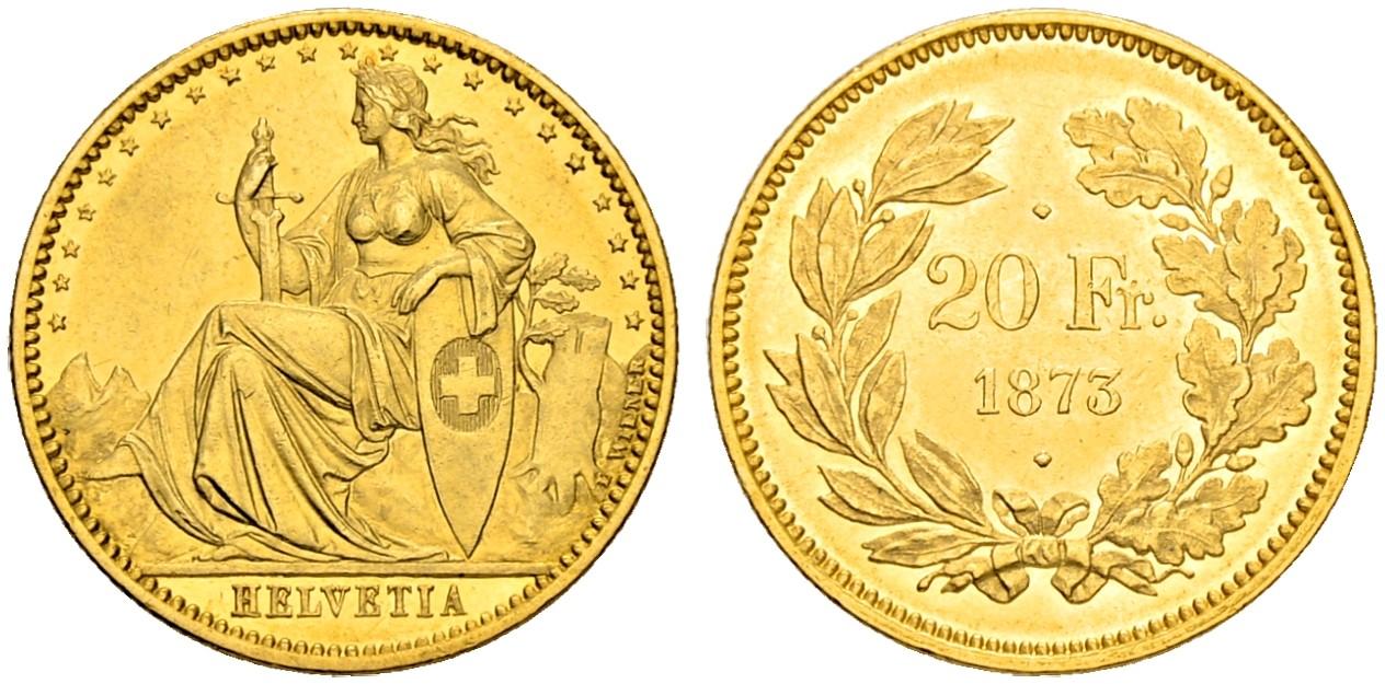 CH 20 Franken 1873