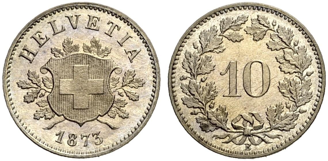 CH 10 Rappen 1873 B