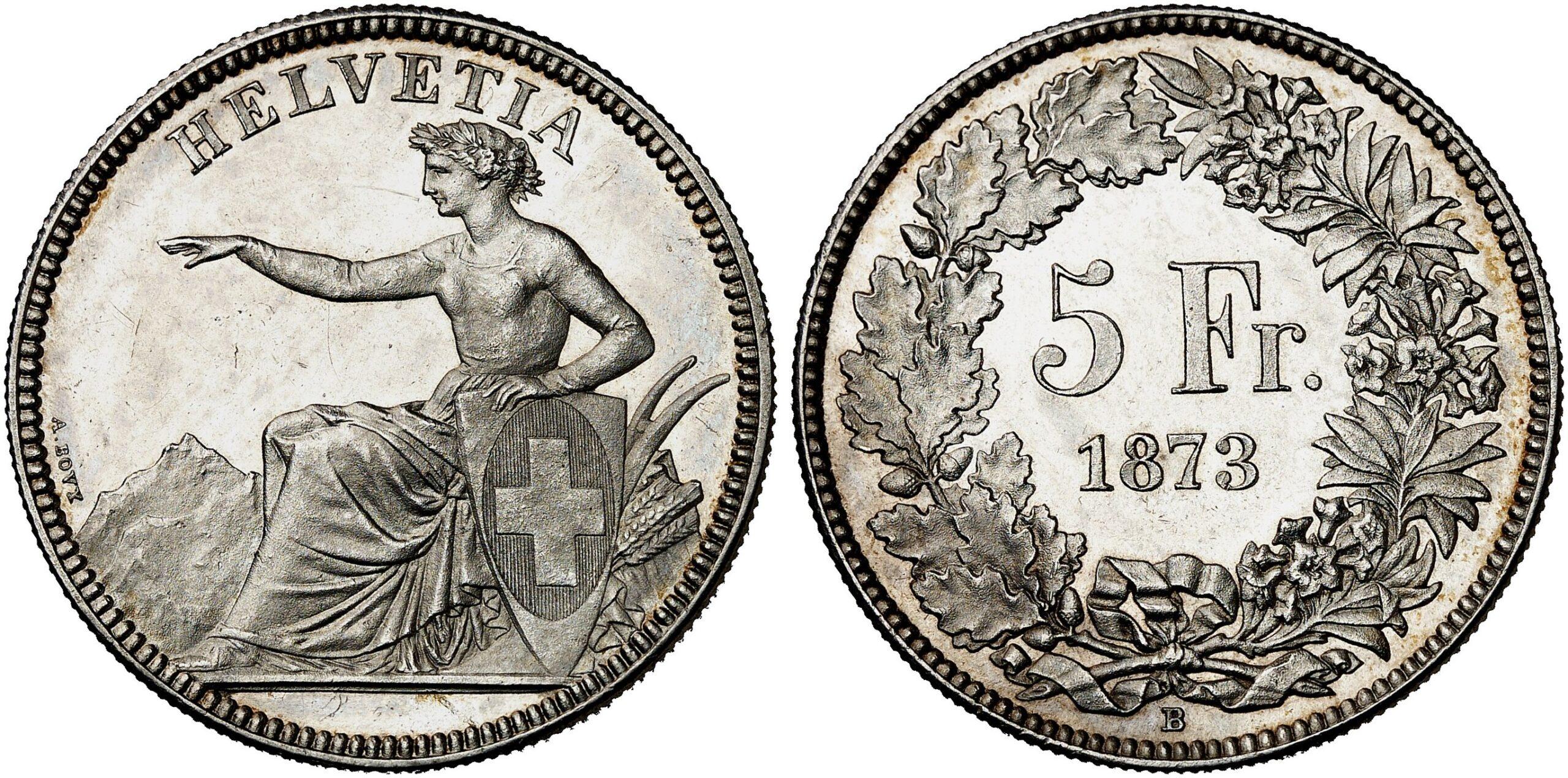 CH 5 Franken 1873 B