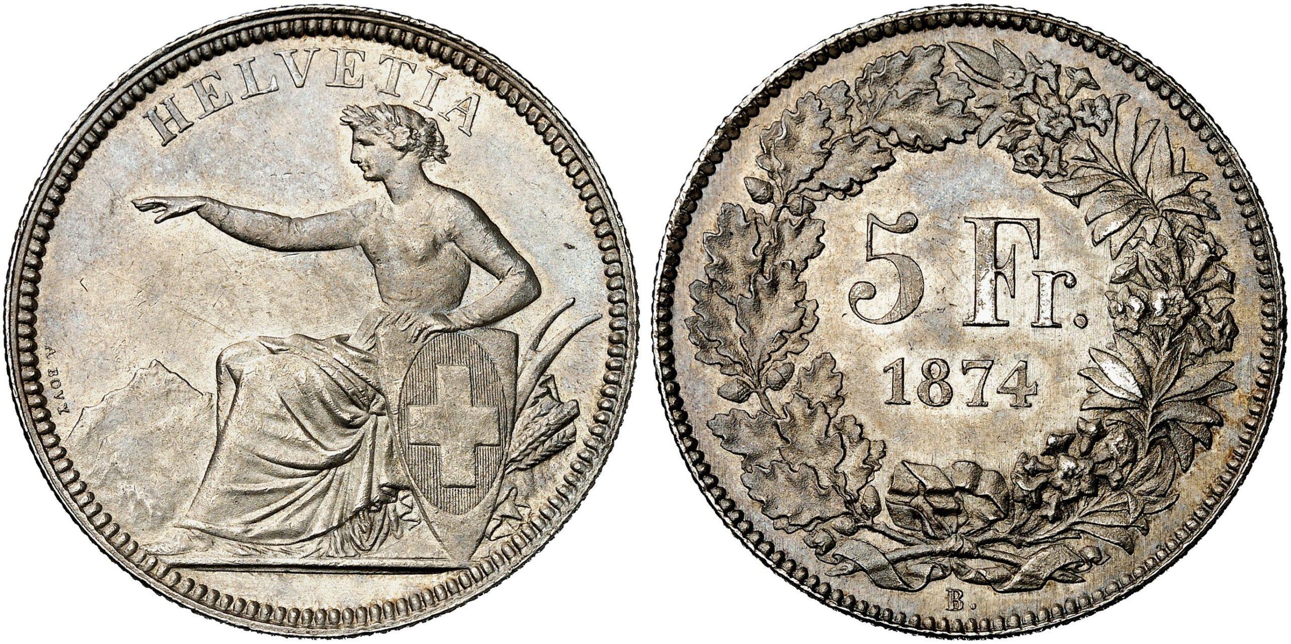 CH 5 Franken 1874 B.