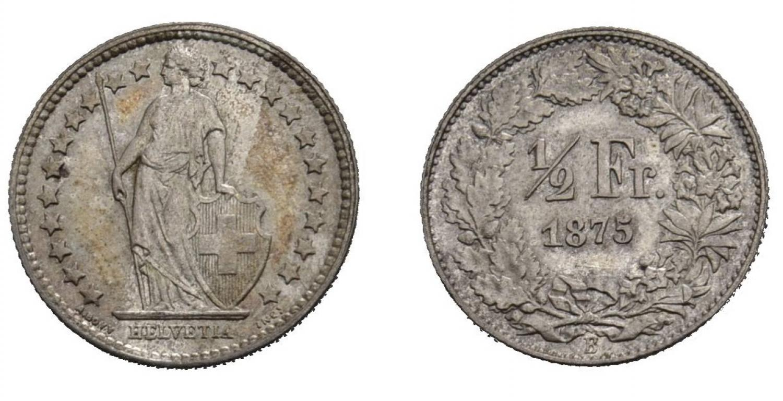 CH 1/2 Franken 1875 B