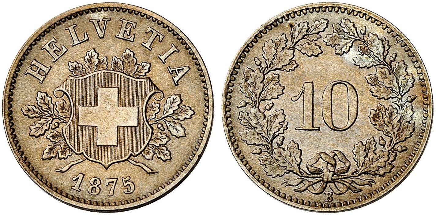 CH 10 Rappen 1875 B