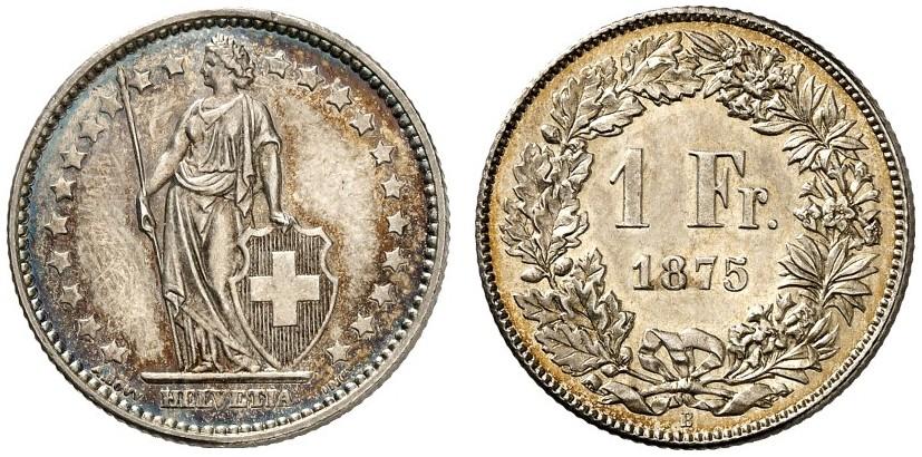 CH 1 Franken 1875 B