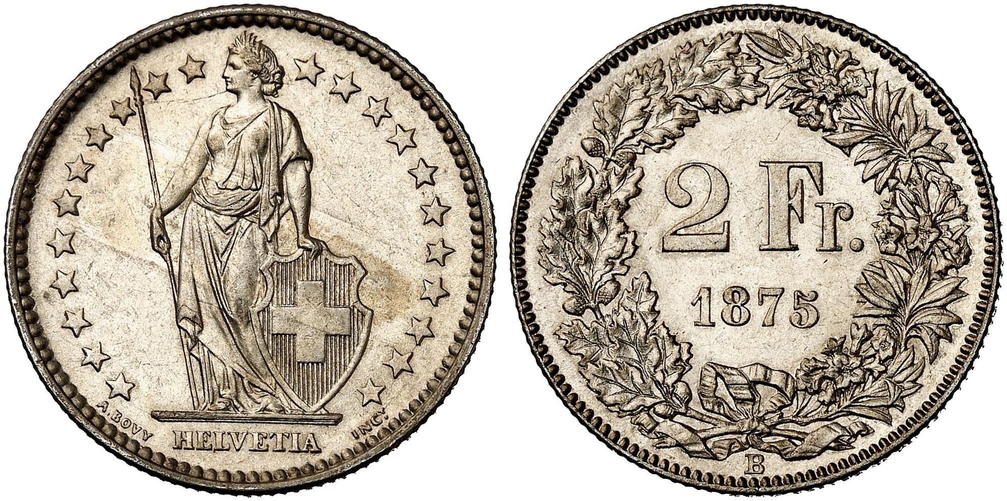 CH 2 Franken 1875 B