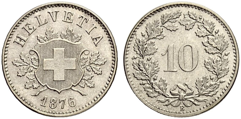 CH 10 Rappen 1876 B