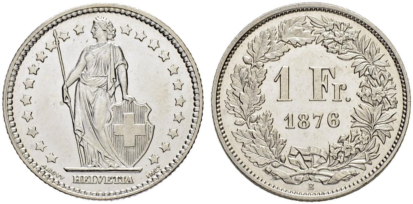 CH 1 Franken 1876 B