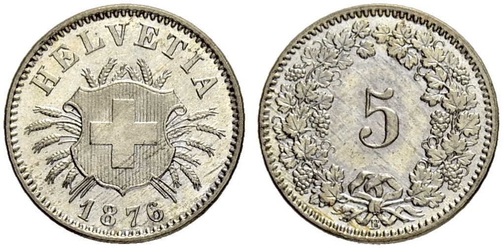 CH 5 Rappen 1876 B