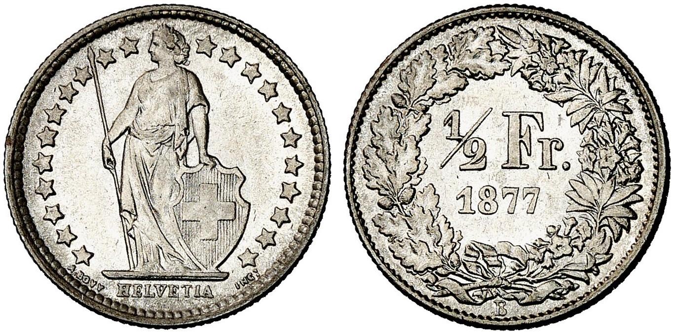 CH 1/2 Franken 1877 B