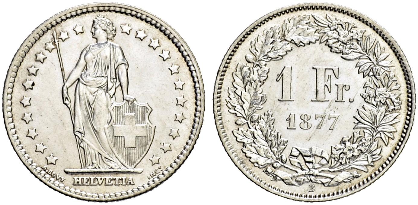 CH 1 Franken 1877 B