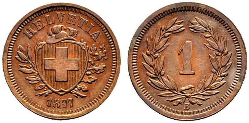 CH 1 Rappen 1877 B