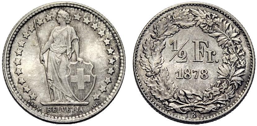CH 1/2 Franken 1878 B