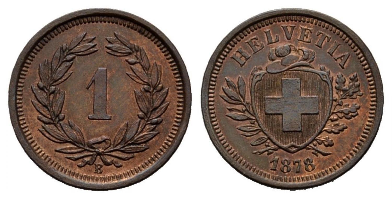 CH 1 Rappen 1878 B