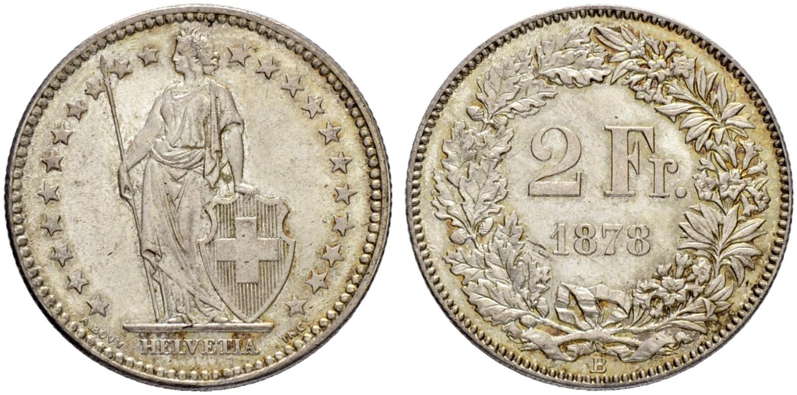 CH 2 Franken 1878 B