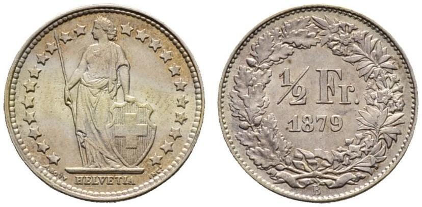 CH 1/2 Franken 1879 B