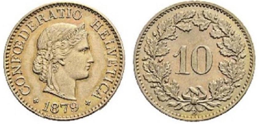 CH 10 Rappen 1879 B